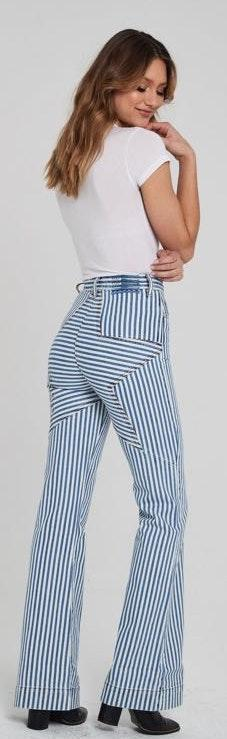Revice Denim Striped Star Butt Flare Jeans