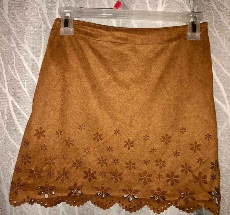 Forever 21 Brown Suede Skirt
