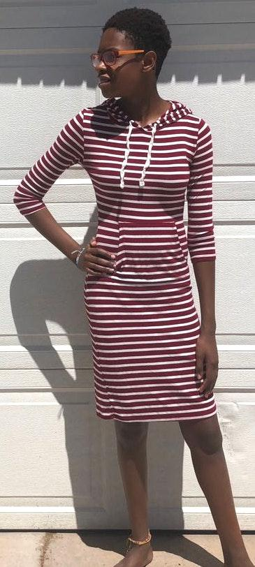 Heart and Hips Fitted Striped Dress