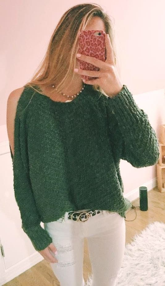 Cousin Couture olive green sweater