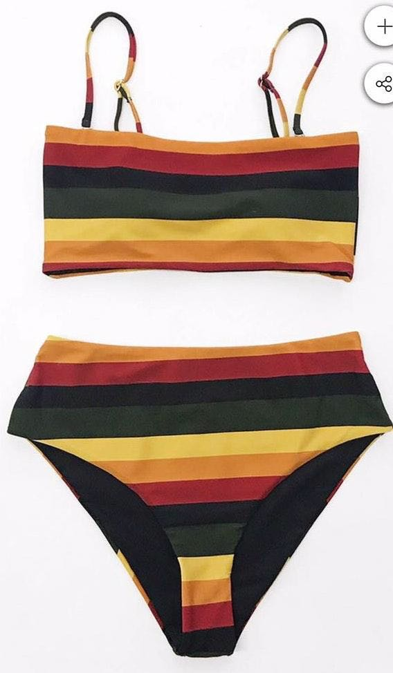 Cupshe Reversible High waisted Bikini