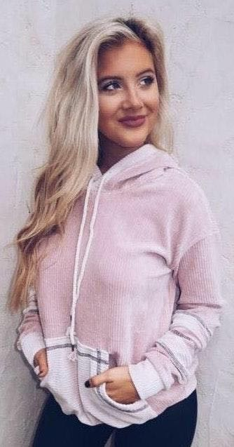 These Three Boutique Pink Pullover