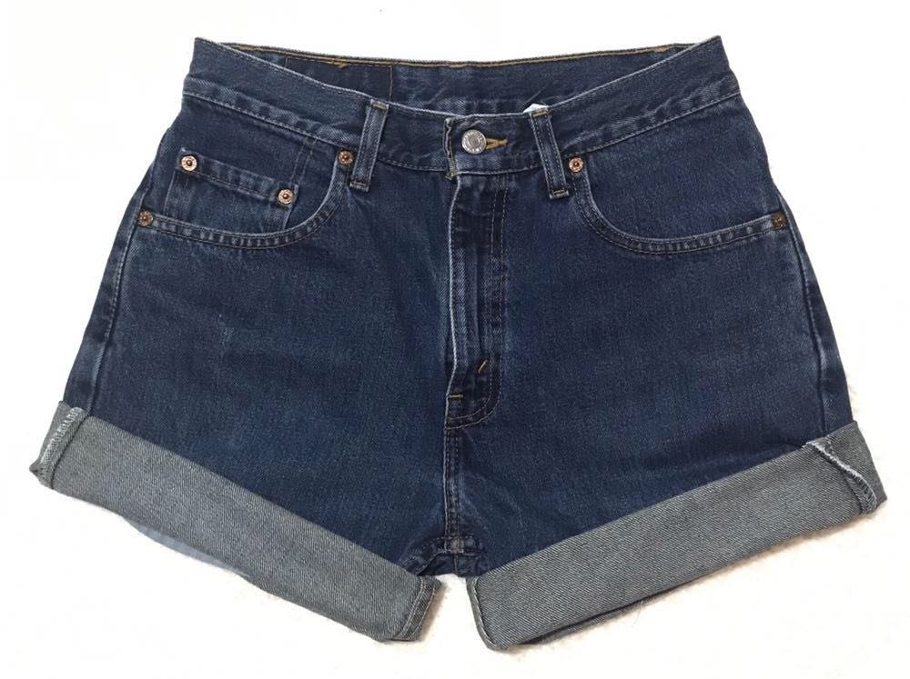 Levi's High Waisted Cuffed Levi 505 Denim Jean Shorts 29