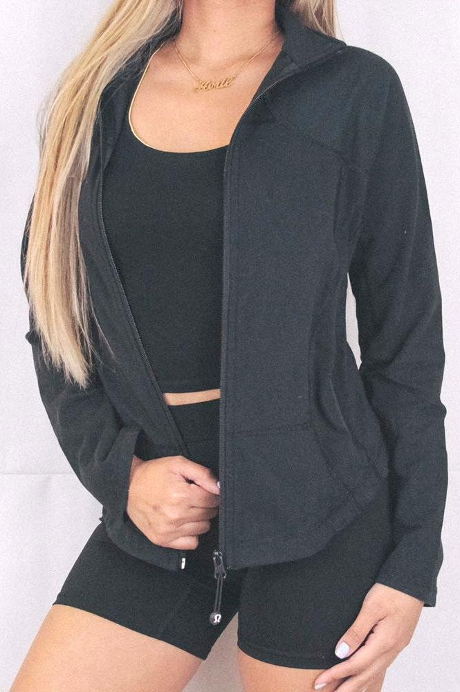 47c6fe03 Lululemon Black Zip-Up Jacket