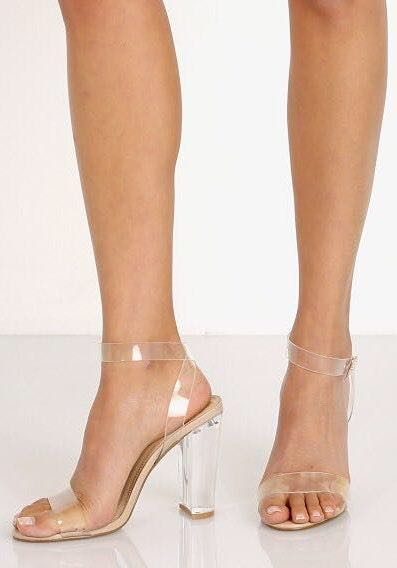 Steve Madden Clear Strap Heels