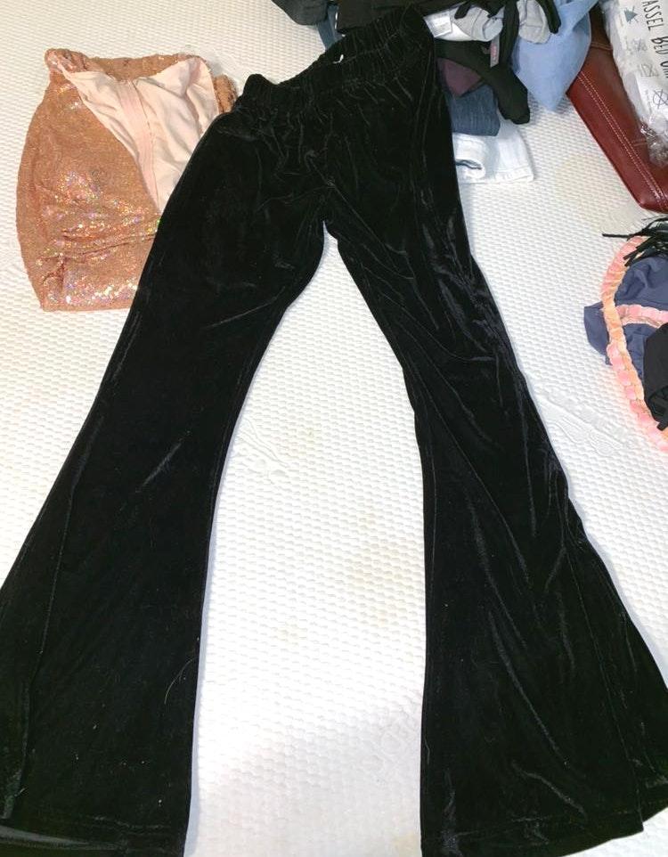 Earthbound Velvet Flare Pants NWOT