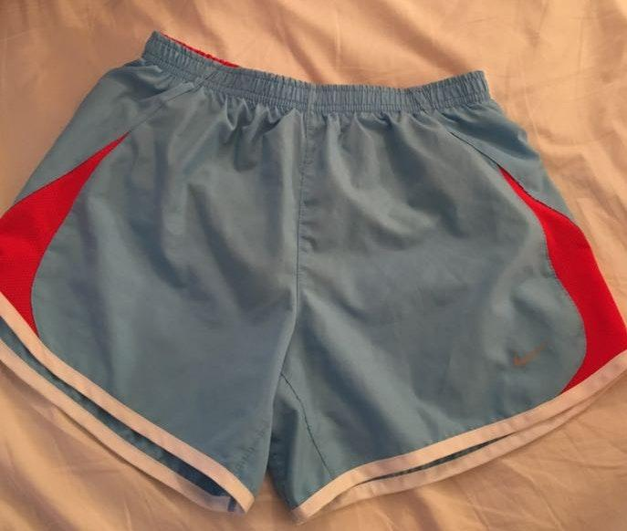 Nike blue and red shorts