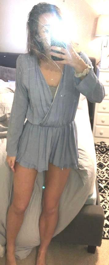 Honey Belle Light Blue Long Sleeve Romper
