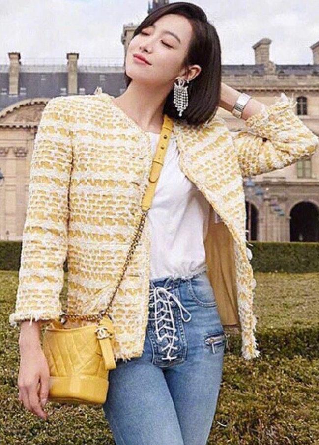 Chanel Yellow Tweed Jacket