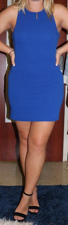 Sugar and L!ps Blue Bodycon Dress