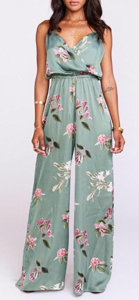 Show Me Your Mumu Satin Floral Jumpsuit