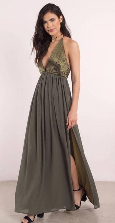 Tobi Olive green Formal Dress  1cfd3868a