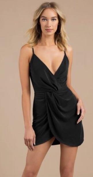 Tobi Plunge Wrap Dress