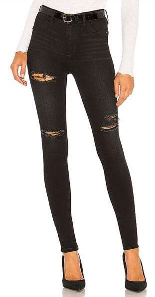 Free People Black High Waist Jeans