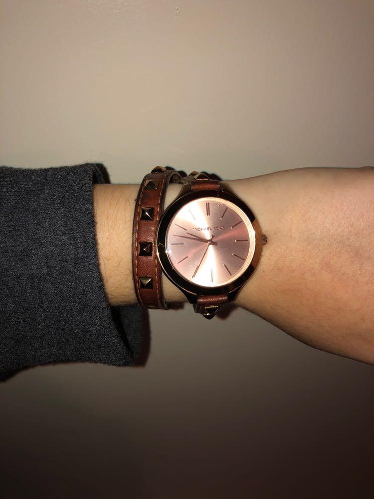 Michael Kors brown  wrap watch