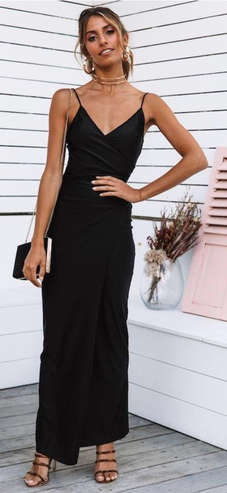 Hello Molly Black Cocktail Dress