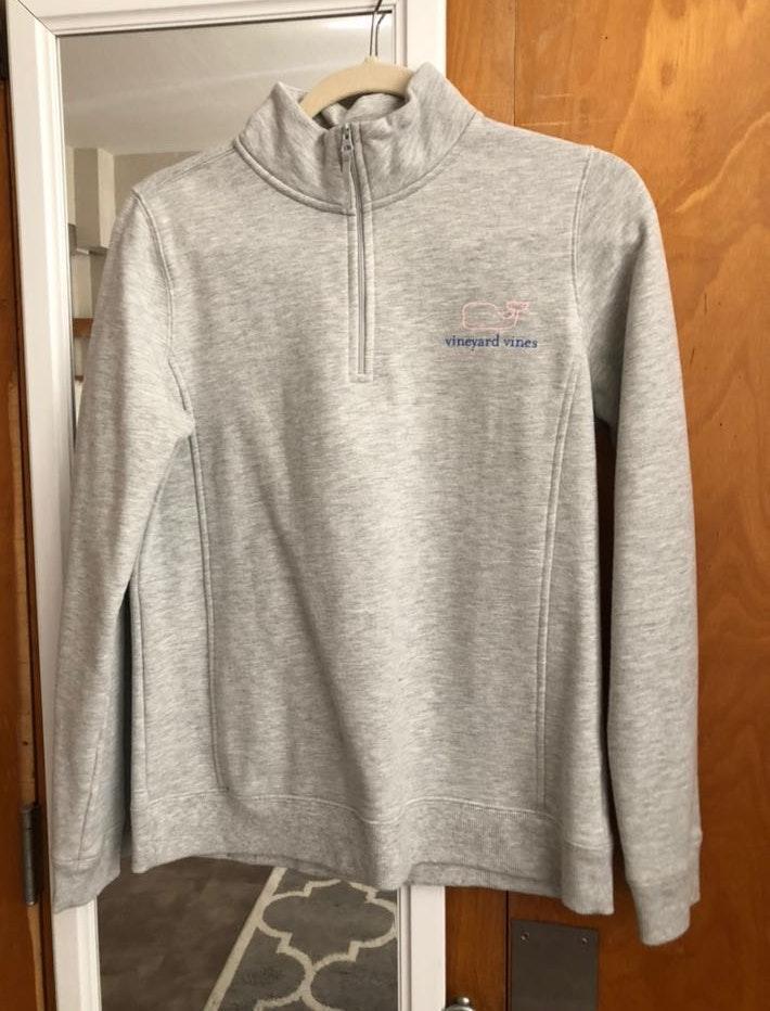 Vineyard Vines Grey quarter zip sweatshirt