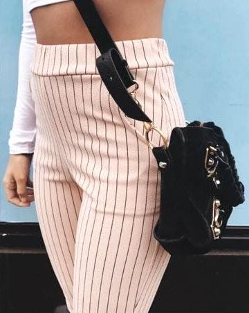 Pretty Little Thing PLT Pink Striped Pants NWOT