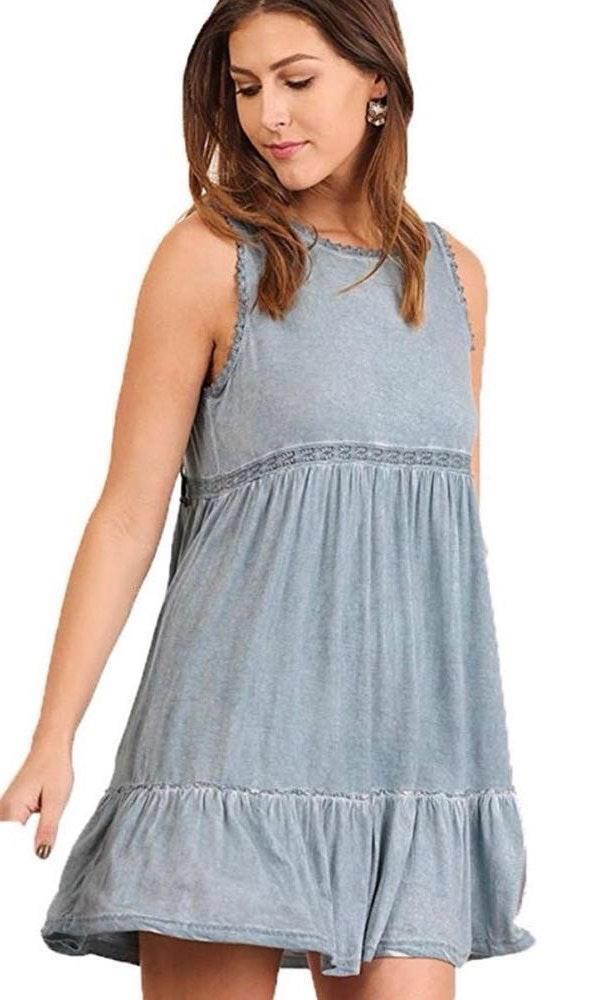 Umgee Bohemian Blue Dress