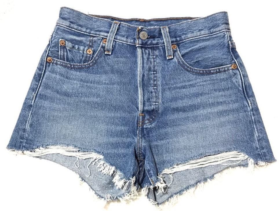 Levi's Women's 501 Button Fly Denim Jean High Waisted Festival Coachella Shorts Trendy