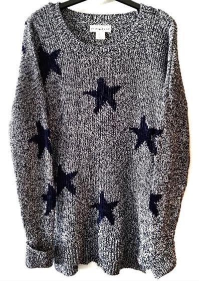 Anthropologie Star Sweater