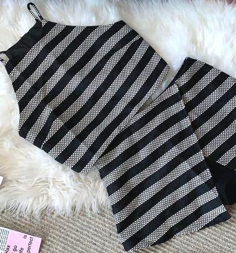 BLANK NYC Striped Set