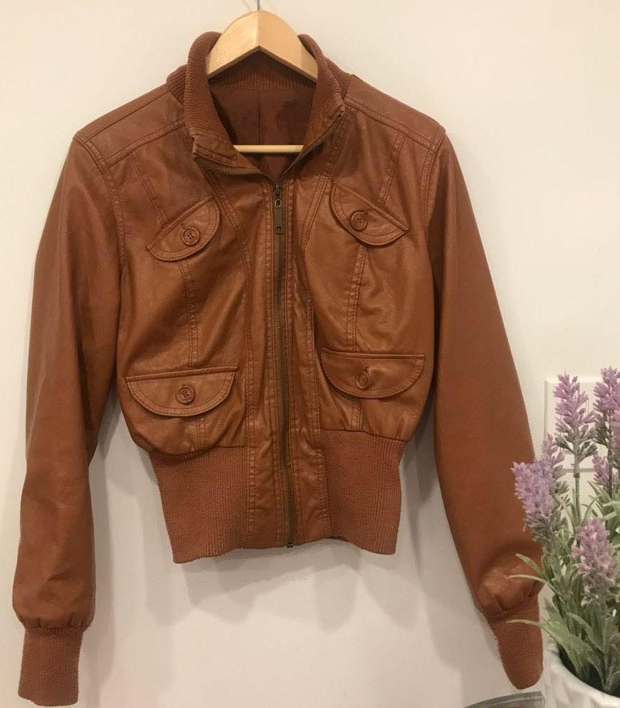 Brown Leather Jacket Bomber Jacket