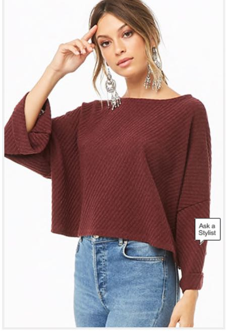 19cef47f9d8b0b We're the buy/sell app for cute clothes. Say to being bored of your  clothes. Home Forever 21 Cropped Cuffed Sweater