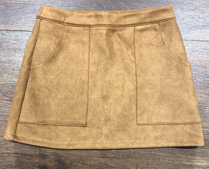 2f0e3d8014 We're the buy/sell app for cute clothes. Say to being bored of your  clothes. Home Honey Punch Brown Suede Skirt