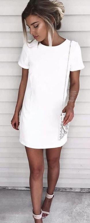 Lulus NWT! White Shift Dress