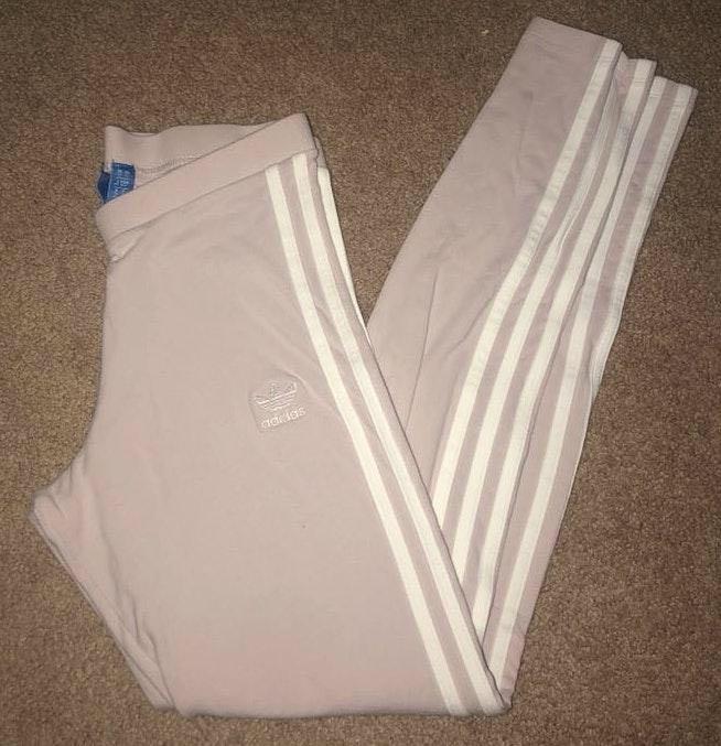 Adidas Pale Pink 3-Stripes Leggings
