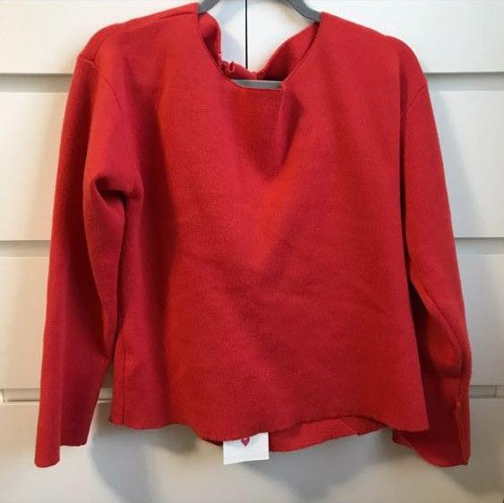 Nordstrom Red Bow Tie Knit Sweater Medium NWT
