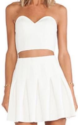 Lovers + Friends White Two Piece