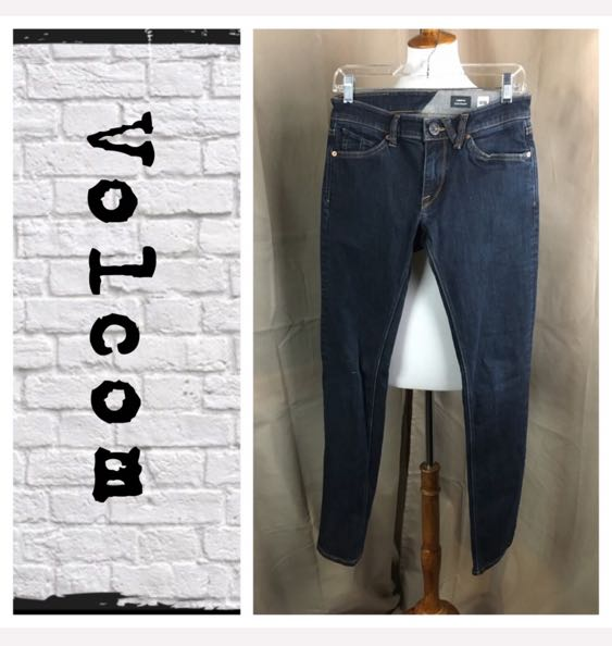 Volcom Dark Wash Skinny Jeans