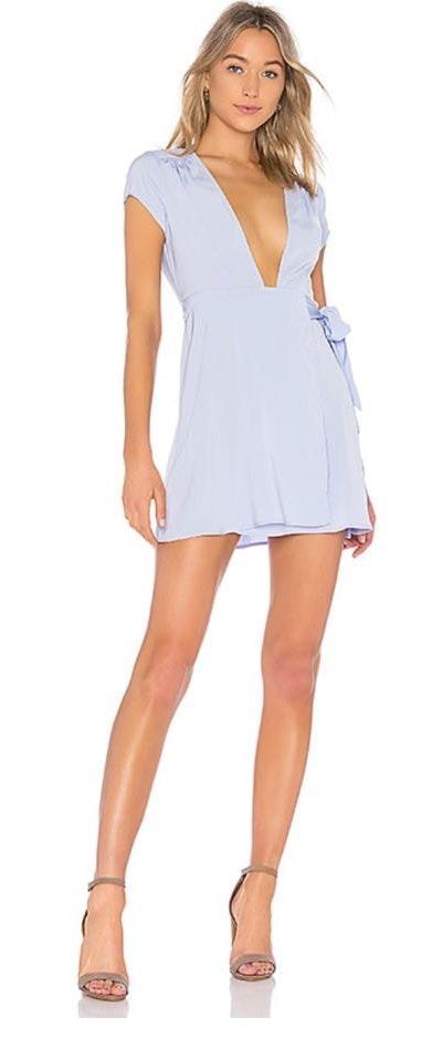 by the way. Blue Wrap Dress