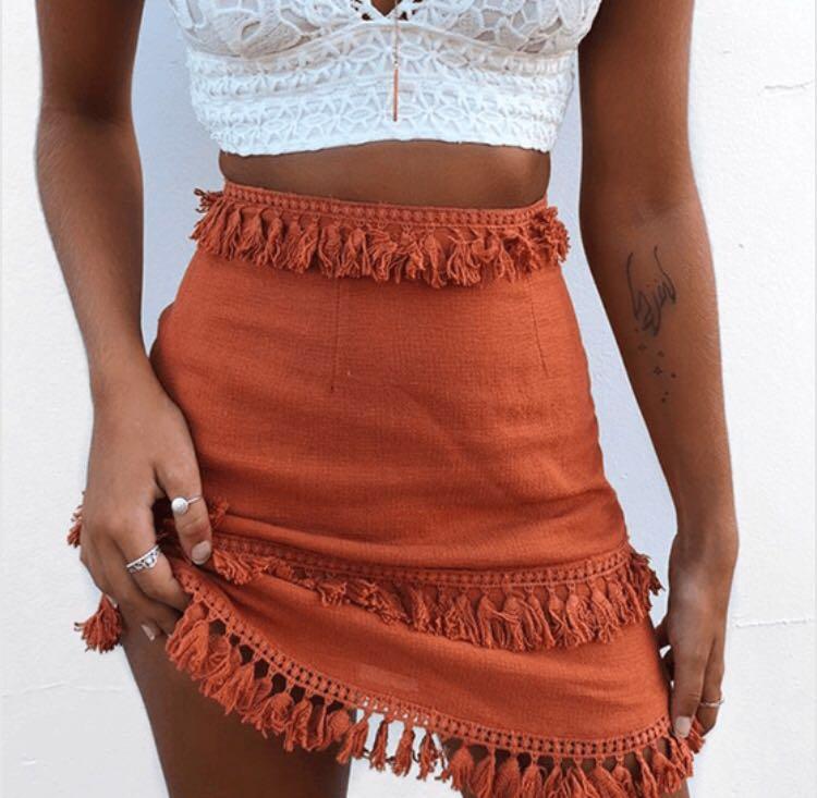 Bohofair Burnt Orange Skirt