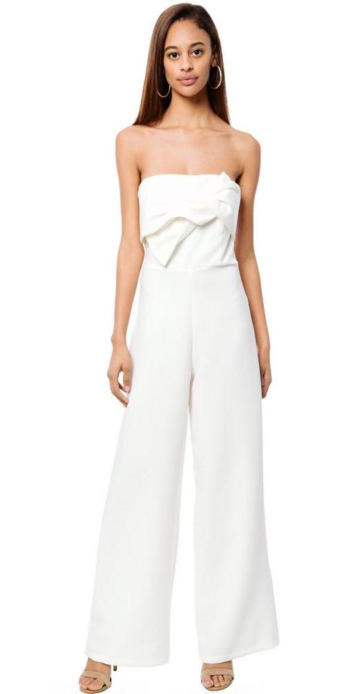Oxford Sunday Bow Jumpsuit from Bevello