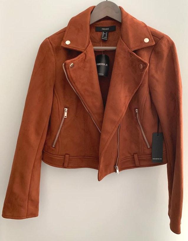 Forever 21 Brown Suede Moro Jacket