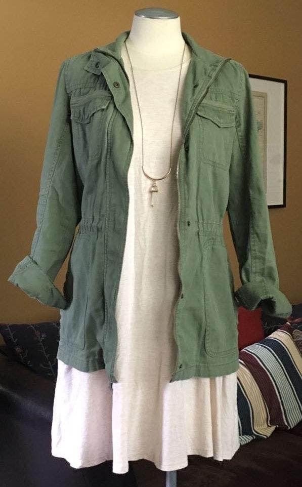 Merona Army Green Safari Jacket