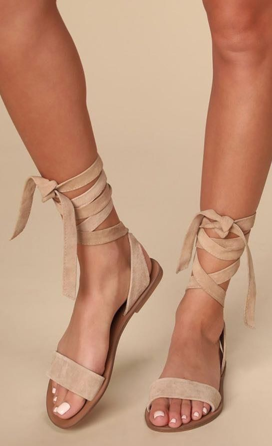 Steve Madden Brown Lace Up Sandals