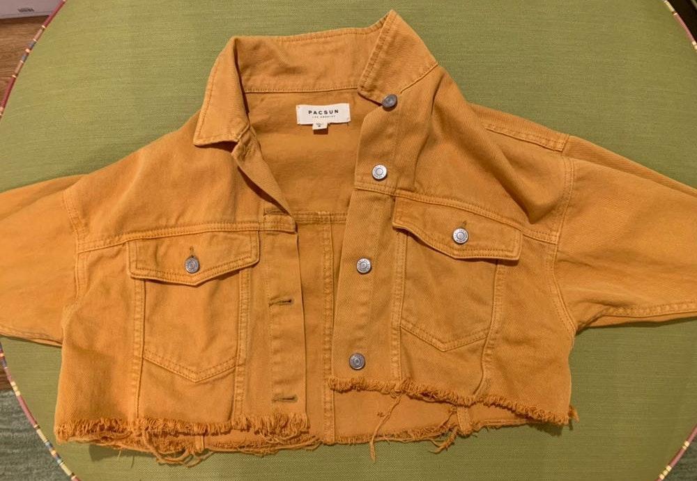 Pacsun Yellow Cropped Jean Jacket