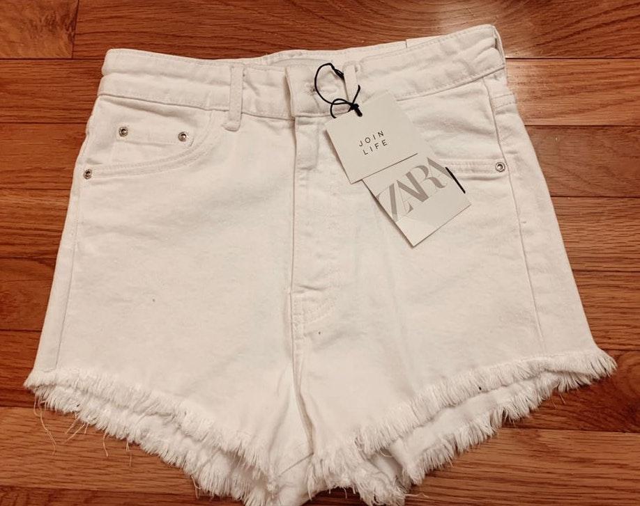 ZARA White Shorts