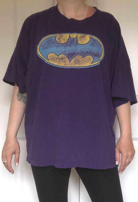 Gildan Purple Batman Graphic Tee