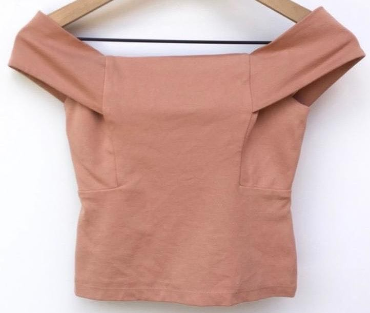 Anthropologie Blush Off The Shoulder Top