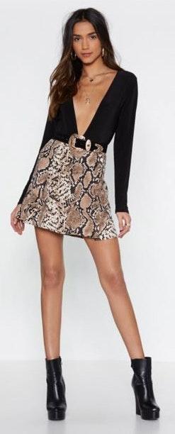 Nasty Gal Snake Skin Skirt