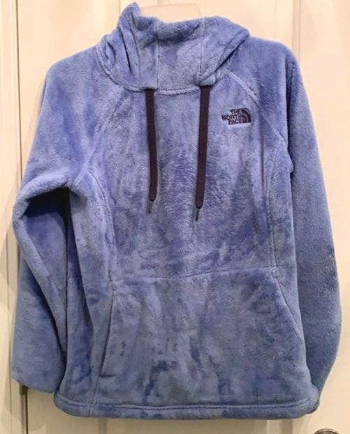 The North Face blue / purple fuzzy hoodie