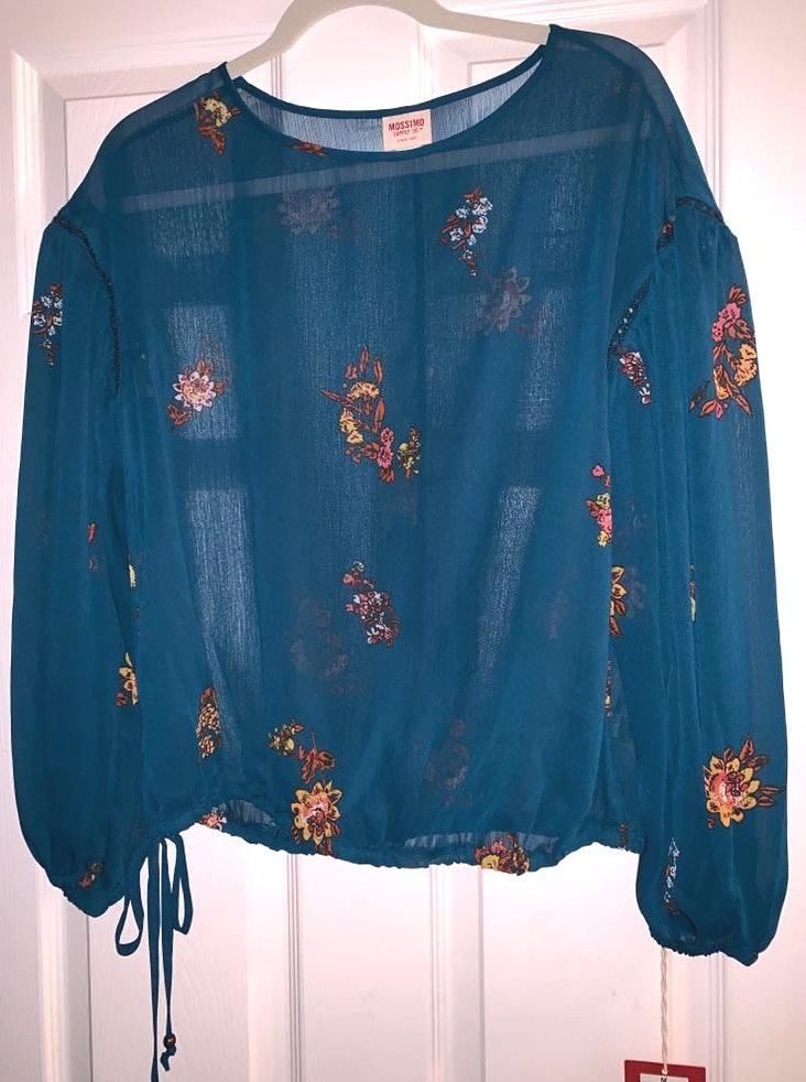 Mossimo Supply Co Blue Blouse