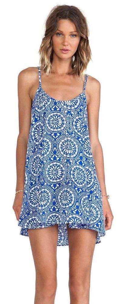 Show Me Your Mumu Mumu Blue Print Mini Dress