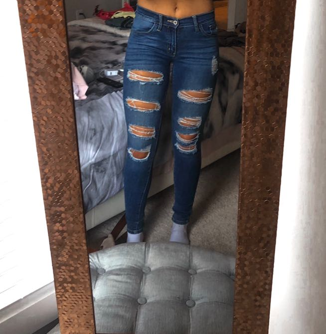 KanCan USA Ripped High Waisted Jeans