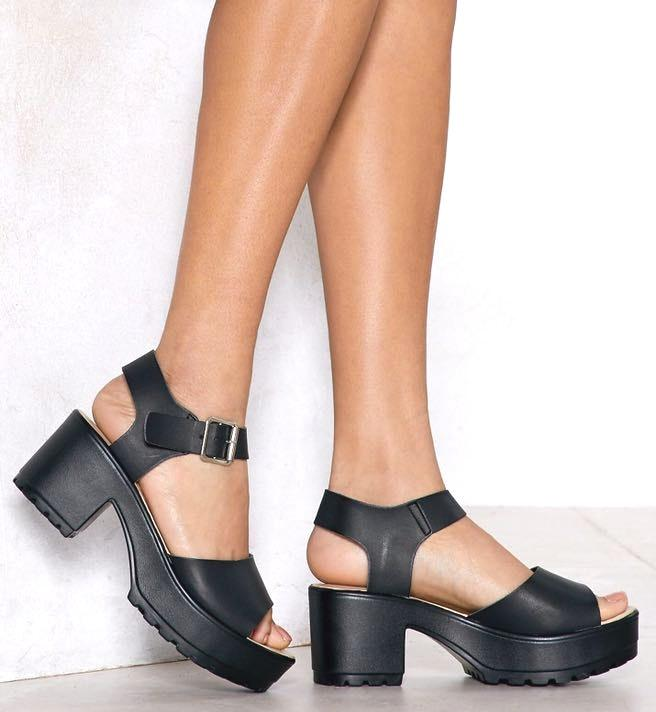 Nasty Gal Aces High Faux Leather Sandal